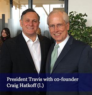 President Jeremy Travis with Tribeca co-founder Craig Hatkoff