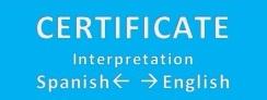 Certificate Interpretation  Spanish -> English