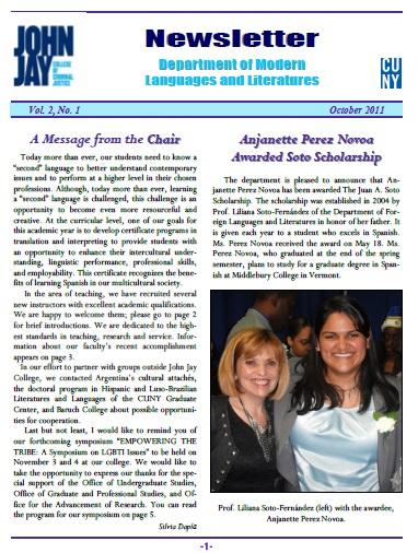 Newsletter October 2011