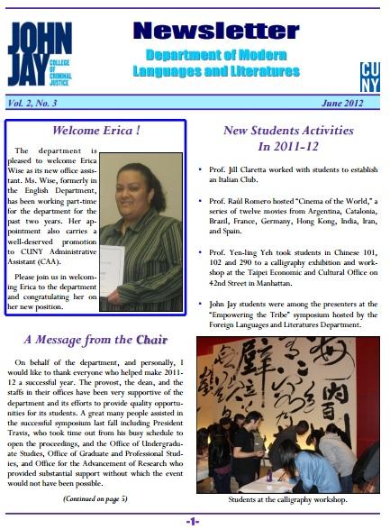 Newsletter June 2012