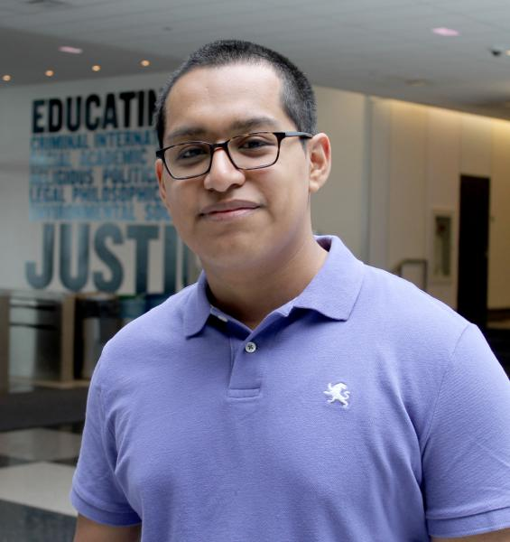 Hernan Carvente, student and founder of Youth Justice Club.