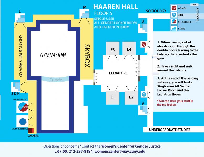 Haaren Hall, All Gender Locker Room & Lactation Room